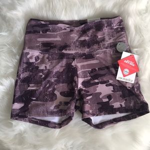 Marika Purple Camo Print Shorts